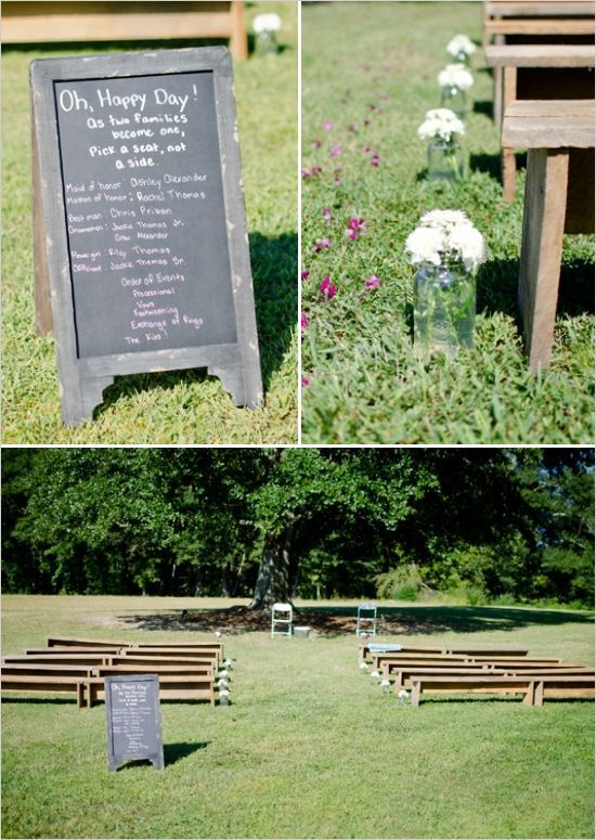 Simple Outdoor Wedding Ceremony Simpleweddingsideasbackyards