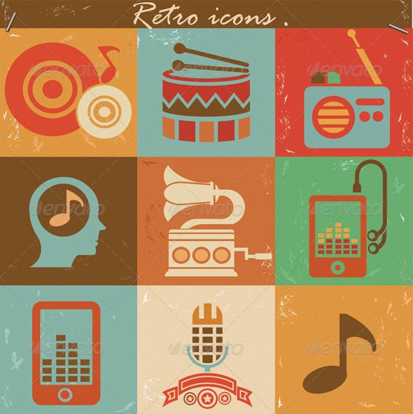 Retro music icons  #GraphicRiver         Retro music icons   	 Include : 3 AI Files : Retro music illustrator cs5, Retro music illustrator 8,Retro music illustrator 10  	 3 EPS Files : Retro music illustrator cs5,Retro music illustrator 8,Retro music illustrator 10  	   	 Keyword :vintage,music,audio,radio,sound,song,icon,icons,icon set,vector,illustrator, retro     Created: 27September13 GraphicsFilesIncluded: VectorEPS #AIIllustrator Layered: No MinimumAdobeCSVersion: CS5 Tags: audio #icon…
