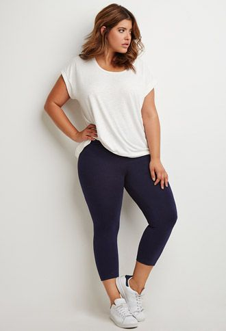 Classic Leggings | Forever 21 PLUS - 2000183529  Check out our amazing collection of plus size leggings at http://wholesaleplussize.clothing/