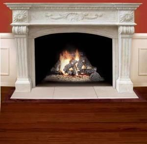 American Gas Log Palermo Thin Cast Stone Mantel In Almond from Beyond Stores at SHOP.COM