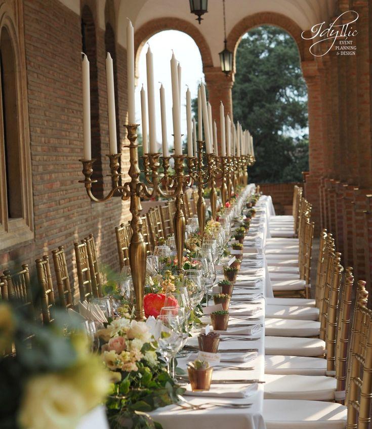 wedding design at Mogosoaia Palace by Idyllic Events / aranjamente florale si decoratiuni nunta / Bucharest, Romania