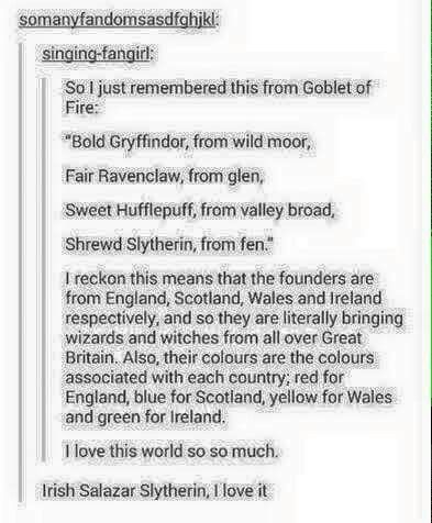 Even better, it's canon because the actress who plays Helena Ravenclaw is super Scottish.