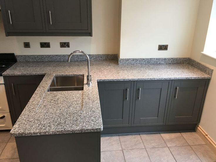 Image Result For Luna Pearl Granite With Gray Cabinets In