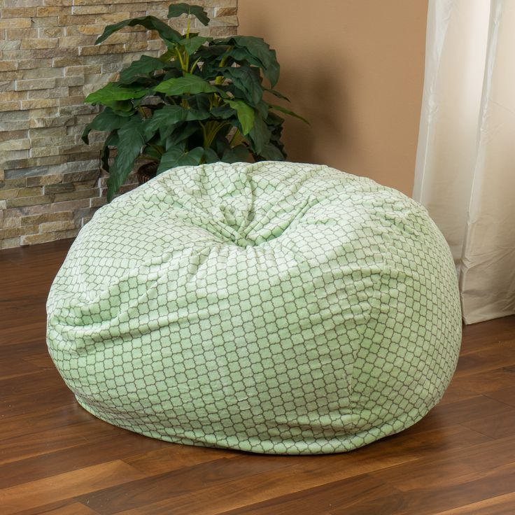 Ashley 3Ft Sage Green Geometric Pattern Fabric Bean Bag Chair  Lounge in style with the Ashley 3-foot sage green bean bag. The plush fabric makes this an inviting piece for any adult or child. Its microfiber fabric is soft to the touch and the unique pattern and earth tone green will complement almost any decor. Mad  http://www.shareasale.com/m-pr.cfm?merchantID=69984&userID=1079412&productID=689114860