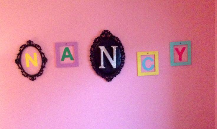 DIY walls decor. Girls bedroom