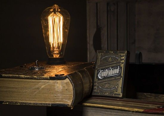 Contraband Book Lamp & Playing Cards