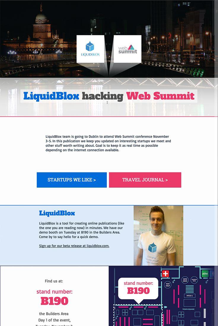 Travel Journal http://websummit.liquidblox.com/LiquidBlox+hacking+Web+Summit/3/