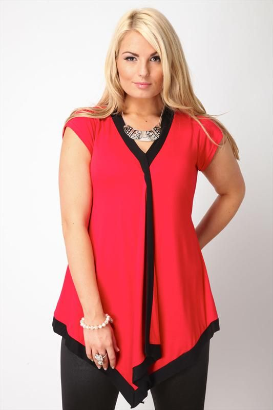 red and black top