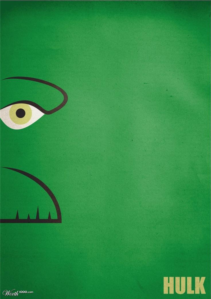 Stunningly Simplistic Movie Poster   Hulk