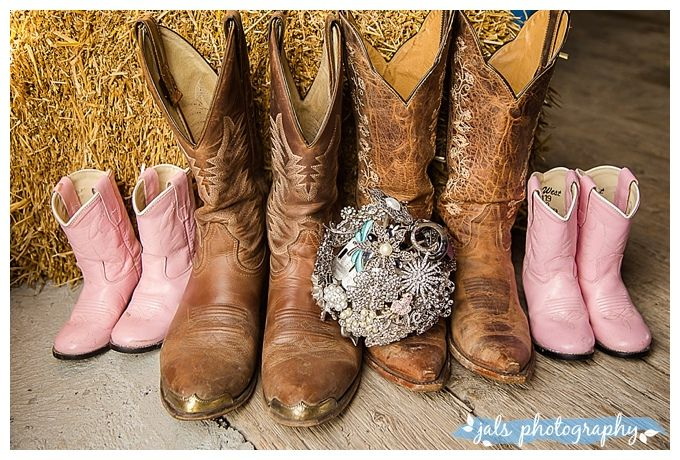 Wedding cowboy boots for the family