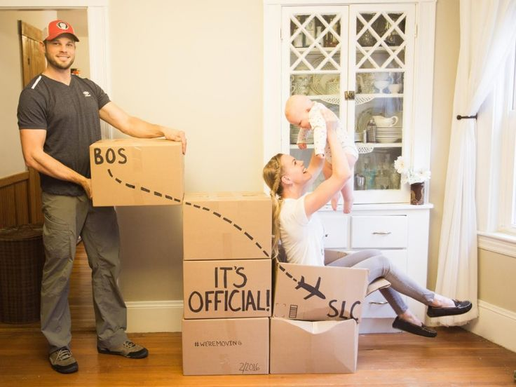 Cute Family Moving Announcement