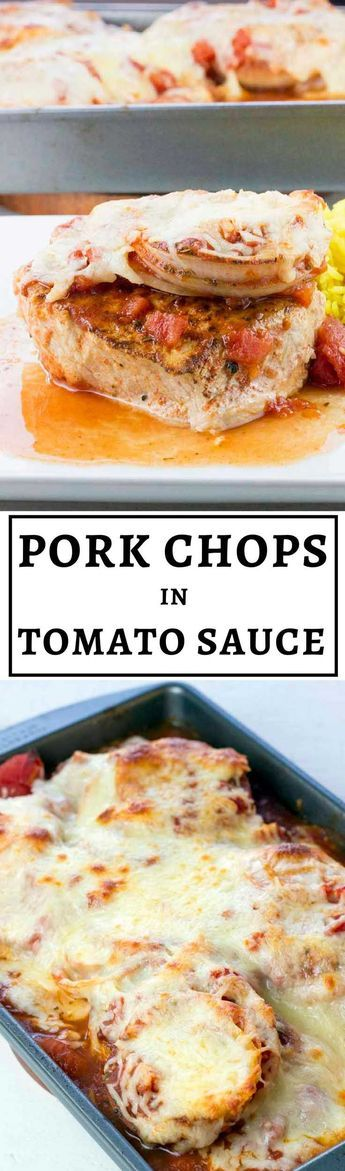 These pork chops are tender, juicy, and bursting with flavor! Baked Boneless Pork Chops in Tomato Sauce is a high-protein recipe you'll find yourself making over and over again. It's also gluten-free and low carb. #healthyeating #healthyrecipes #diabetesdiet #diabetesrecipes #diabeticdiet #diabeticfood #diabeticrecipe #diabeticfriendly #lowcarb #lowcarbdiet #porkchops #highproteinrecipes #highprotein #porkrecipes #lowcarbrecipes