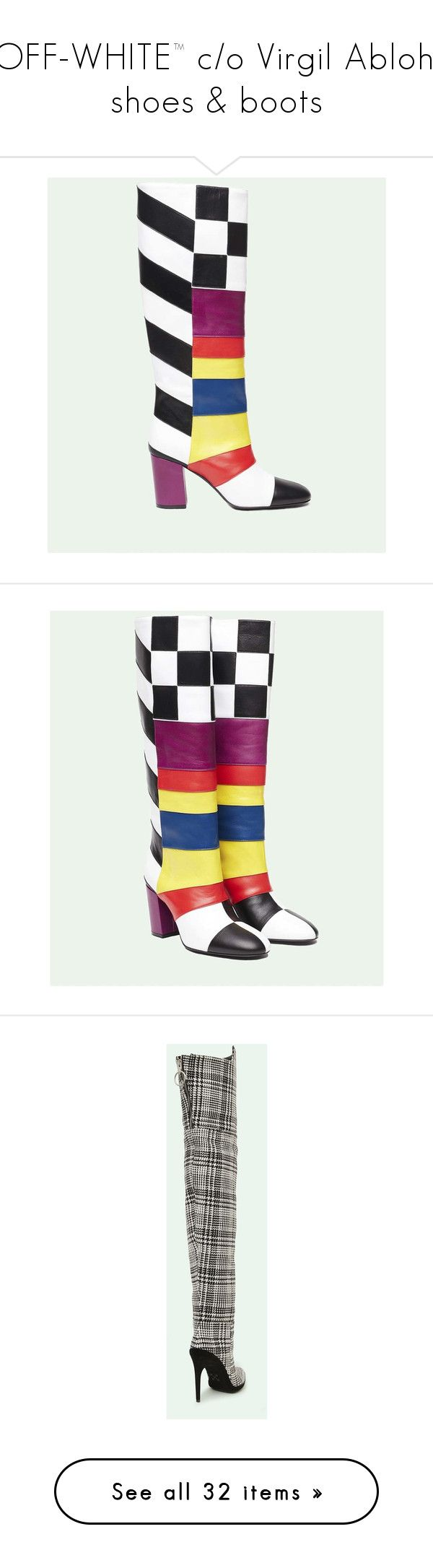 """""""OFF-WHITE™ c/o Virgil Abloh. shoes & boots"""" by cherhorowitz95 ❤ liked on Polyvore featuring shoes, multicolor shoes, off white shoes, multi color shoes, champagne shoes, multi colored shoes, vintage white shoes, colorful shoes, plaid shoes and tartan shoes"""