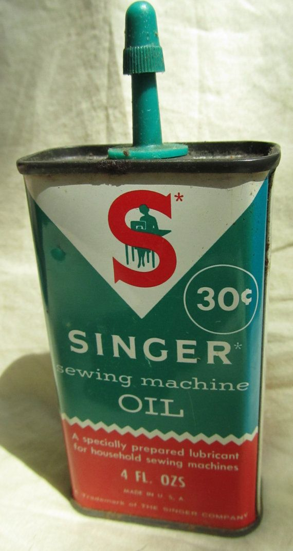 Vintage Singer Sewing Machine Oil Can 40 Cent Oil Antique Oil Tin Gorgeous How To Oil A Singer Sewing Machine