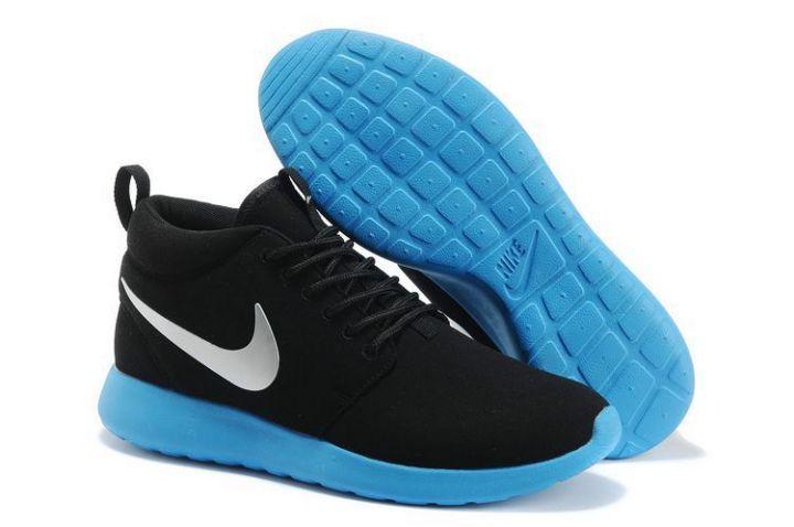 nike shox livestrong hommes - Roshe Run Mid Homme Marine Pour Nike Noir Metallic Silver Bleu ...