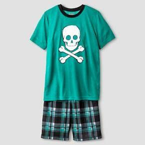 Boys' Pajama Set Cat & Jack™ - Green S : Target