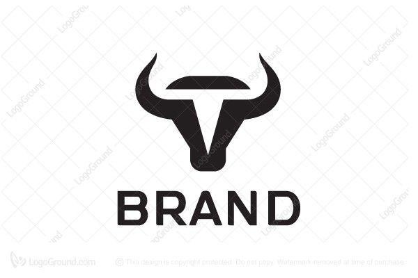 Exclusive Logo 88432 Letter T Bull Head Logo Logos Taurus Logo