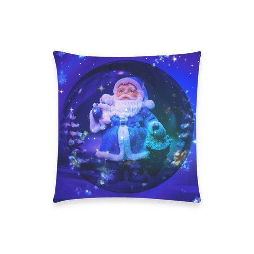 """Blue Santa Claus New Pillow Case Pillow Inner Included 18""""x18"""" (Two sides)"""