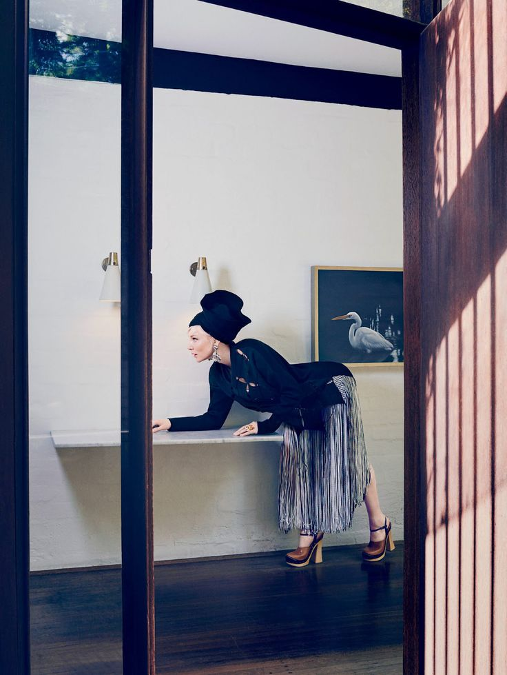 Cate Blanchett for Vogue Australia April 2015. Photo by Emma Summerton | http://www.yellowtrace.com.au/fashion-vs-interiors-modern-architecture-edition/ | Finding inspiration for interior design projects can be quite a challenge, so let yourself be inspired by beautiful shapes, colors and designs from many types of objects | www.bocadolobo.com #bocadolobo #luxuryfurniture #exclusivedesign #interiodesign #designideas #interiordesigners #projects #interiors #designprojects #designinteriors…