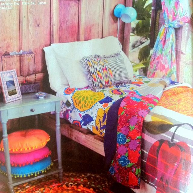 Dorm decor. bright colors