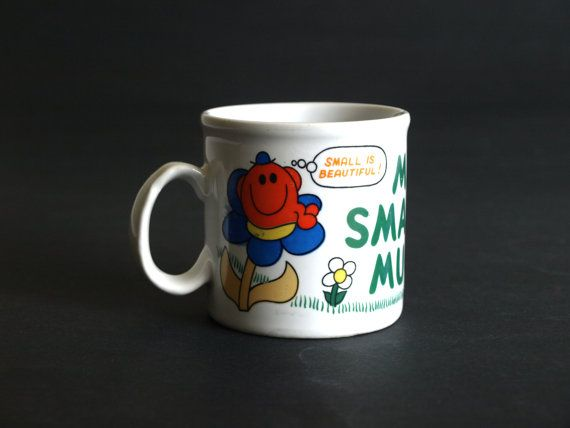 Retro Roger Hargreaves Mr Small Mug  Kitsch Mr Men by FunkyKoala