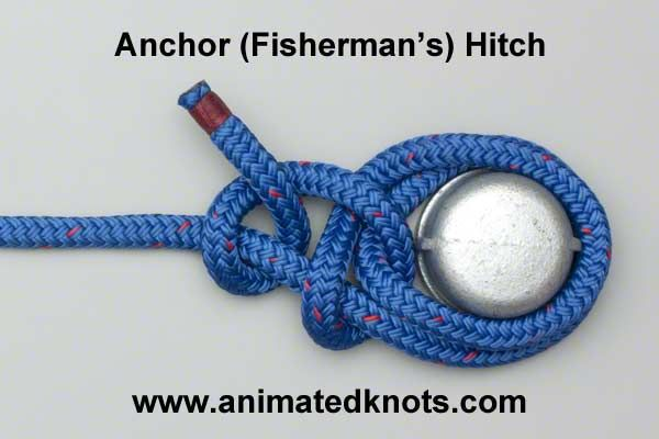 Animation Anchor Hitch Fisherman S Hitch Tying Boating Knots Sailing Knots Rope Knots