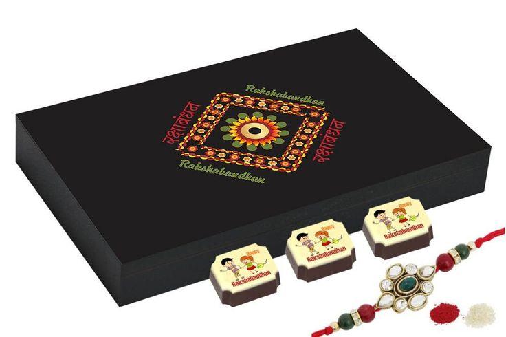 Rakhi gifts for brother - 12 Chocolate Gift Box - Rakhi gift for sister