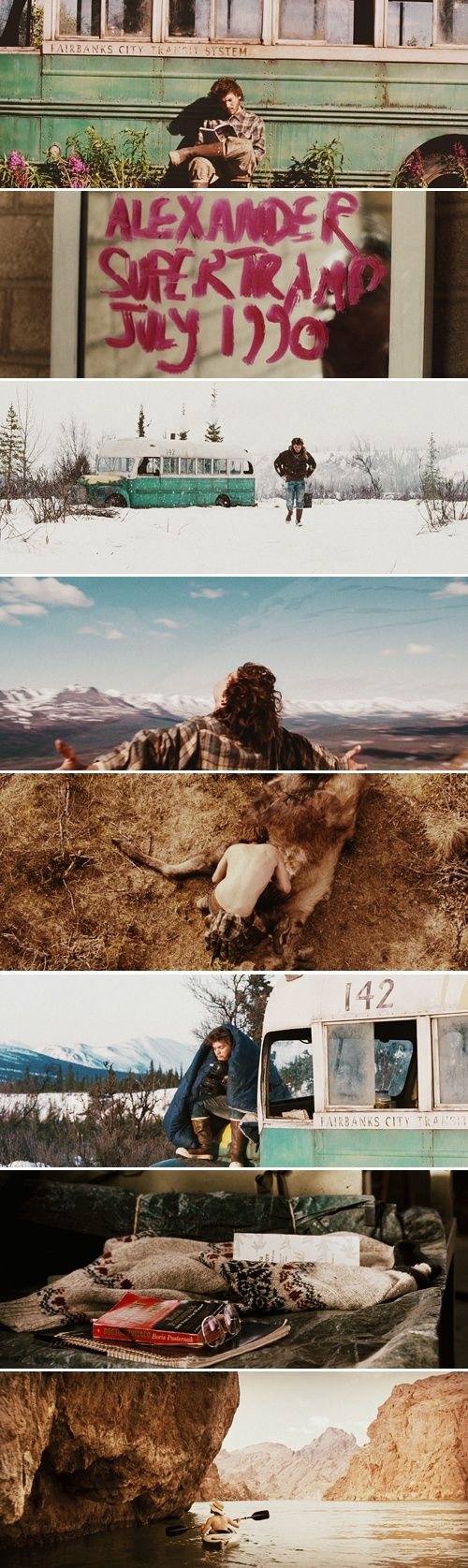 Into the wild (2007) such a moving film. I do tend to over analyze things, but this movie really shook me to my core. Beautifully tragic. The fact that it's based off of true events makes it even more emotional. (scheduled via http://www.tailwindapp.com?utm_source=pinterest&utm_medium=twpin&utm_content=post116427013&utm_campaign=scheduler_attribution)