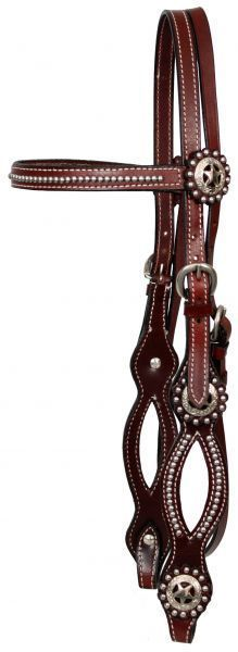 Western Show Bridle Cutout Cheeks & Silver Spots Includes Reins New Horse Tack