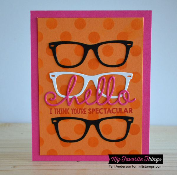 Card Making Equipment Ideas Part - 24: Geek Is Chic, Geek Is Chic Glasses Die-namics, Happy Hellos Die-