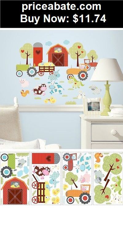 Kids-at-Home: New HAPPI BARNYARD ANIMALS WALL DECALS Baby Nursery Kids Farm Bedroom Stickers - BUY IT NOW ONLY $11.74