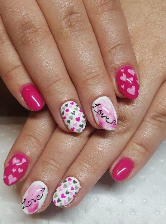 estimo stylizacja paznokci walentynkowe paznokcie