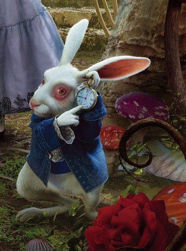 alice in wonderland white rabbit tim burton - Google Search