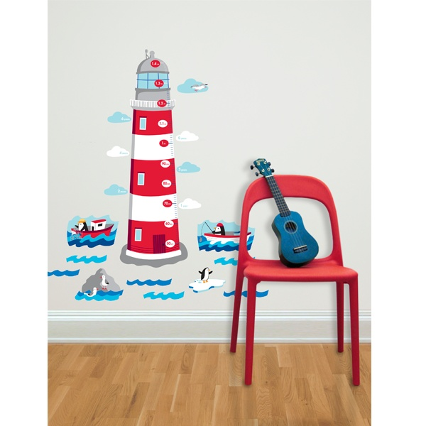Forwalls Lighthouse Growth Chart $59.95. These are a gorgeous way to chart your child's height. They are easily removed too! #Wall_Stickers #Wall_Decals #Kids_Gifts #Harlequin #Forwalls