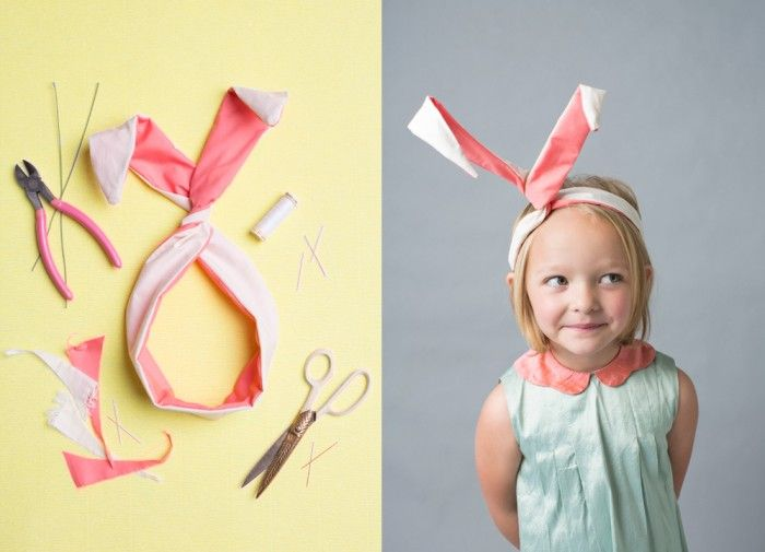 DIY bunny ears twist tie from The House That Lars Built