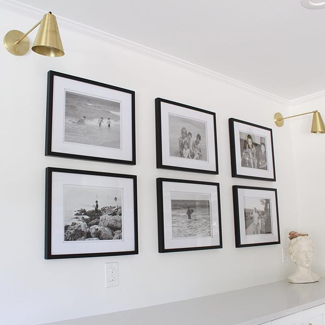 Talking #gallery walls #ontheblog today and my love for black + white {link in profile). #thehouseofsilverliningbeachcottage