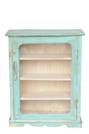 Turquoise cabinet....to you know, store winey things in.....