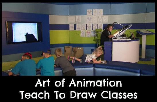 Art of Animation Teach to Draw Classes are held everyday at 11 am, 2 pm and 5 pm at Art of Animation Resort.