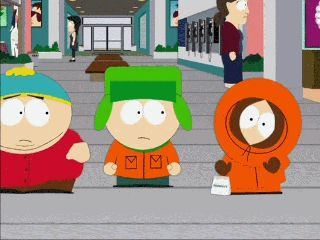 what does kenny say at the beginning of south park