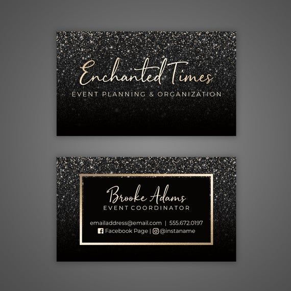 Printable Business Card Personalized Business Card Black Etsy In 2021 Rose Gold Business Card Business Card Design Black Printable Business Cards