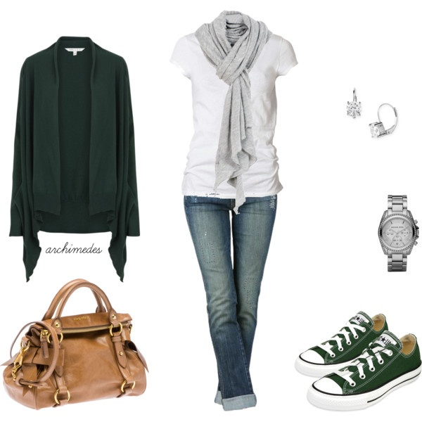 -: Sweater, Fashion, Style, Green Chucks, Clothes, Outfit, Casual Looks, Green Converse, Closet