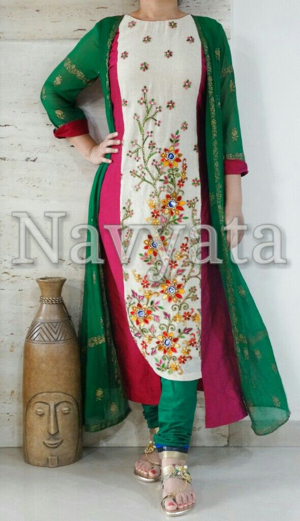 Here's a stylish kurti u can flaunt around this festive season!!! For further details contact us on +919892398900, +919930413660