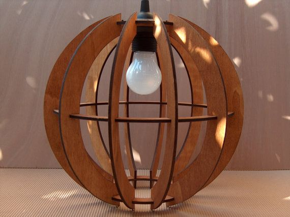 Plywood Lamp Shade Sphare Material: Birch Plywood Size: WxDxH = 300mm X 300mm X 300mm (11.8 x 11.8 x 11.8) also available as DIY product here: