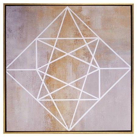 "2-Pack Geometric Framed Canvas 18""x18"" - Threshold™ : Target"