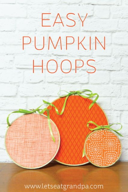 Easy Pumpkin Hoops Craft: