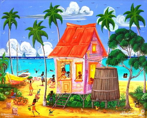 1000 images about beach house paintings on pinterest for Belizean style house plans