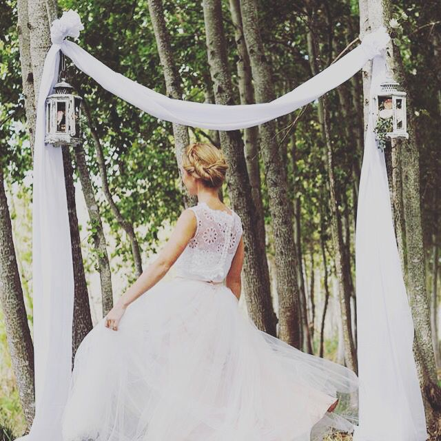 #ElaineBlomBRIDE 'Lola' Crop Top, 'Greta' Bustier and the 'Colette' tulle skirt all-in-one!