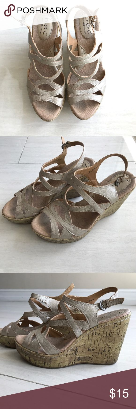 Born Concept ladies wedge Born Concept ladies wedge in beige. These have lots of wear left in them. Size 8 Born Concept Shoes Wedges