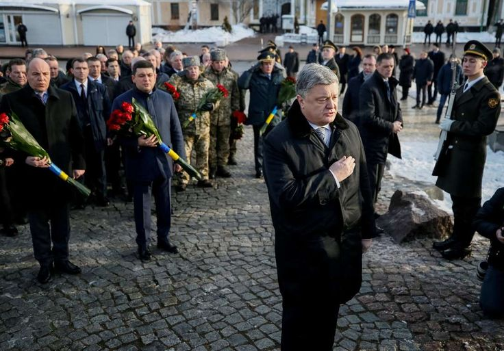 """President Petro O. Poroshenko of Ukraine in Kiev on Wednesday. Two days later in Munich, he warned the West against """"appeasement"""" of Russia."""