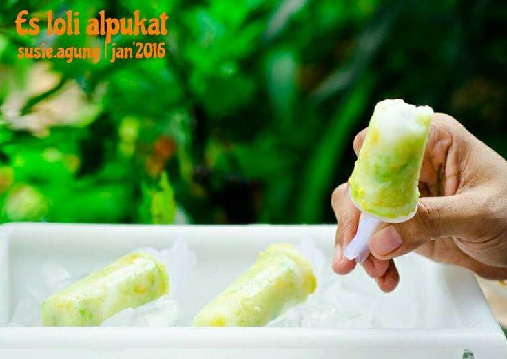 Es loli alpukat (avocado popsicle)